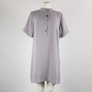 Saks Fifth Avenue Grey Button Up Dress Size 8